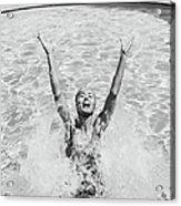 Woman Having Fun In Swimming Pool Acrylic Print