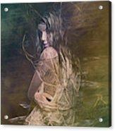 Woman In Distress Acrylic Print