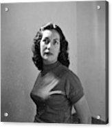 Woman Posed Acrylic Print