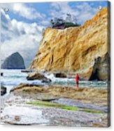 ocean cliffs Cape Kiwanda Pacific City Oregon USA Acrylic Print