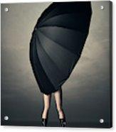 Woman With Huge Umbrella Acrylic Print