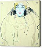 Womans Head Frauenkopf, 1917. Artist Acrylic Print