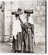 Women From Siloan In Jerusalem Acrylic Print