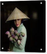 Women Vietnam In Ao Dai Traditional Acrylic Print