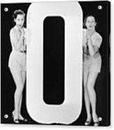 Women With Huge Letter O Acrylic Print