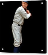 Wood Carving - Babe Ruth 001 Acrylic Print