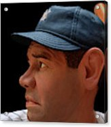Wood Carving - Babe Ruth 002 Profile Acrylic Print