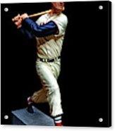 Wood Carving - Ted Williams 001 Black Background Acrylic Print