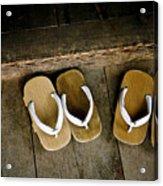 Wood Sandals Acrylic Print