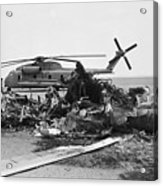 Wreckage Of American Helicopters Acrylic Print