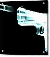X-ray Of Gun Firing Bullet Digital Acrylic Print