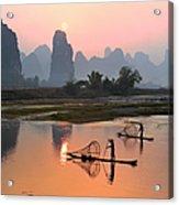 Yangshuo Li River At Sunset Acrylic Print