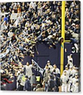 Yankees Fans Reach Out To Touch Acrylic Print