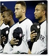 Yankees Listen To The National Athem Acrylic Print