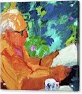 Yehuda Reading Acrylic Print