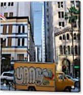 Yellow Graffiti Truck Downtown La Acrylic Print