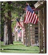 Yellowstone Flags Acrylic Print