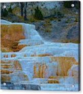 Yellowstone Mineral Deposits Acrylic Print