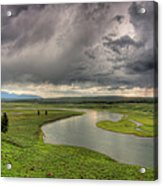 Yellowstone River In Hayden Valley Acrylic Print