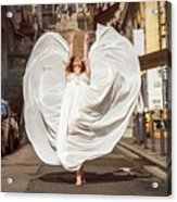 Young Female Dancer In The Streets Acrylic Print