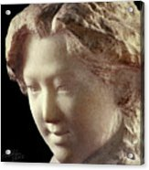 Young Girl-part-arttopan Carving-realistic Stone Sculptures-marble Acrylic Print