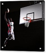 Young Man In The Air About To Dunk The Acrylic Print