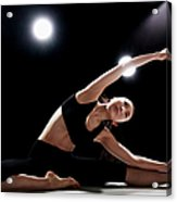 Young Woman Stretching Acrylic Print