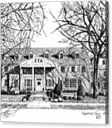 Zeta Tau Alpha Sorority House, Purdue University, West Lafayette, Indiana, Fine Art Print Acrylic Print