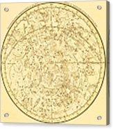 Zodiac Map Acrylic Print