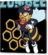 Zombee Zombie Bee Halloween For Beekeeper Apiarist Dark Light Acrylic Print