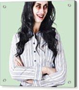 Zombie Businesswoman Acrylic Print
