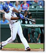 Adrian Beltre and Bruce Chen Acrylic Print