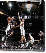 Brook Lopez and Chris Paul Acrylic Print