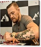 Conor McGregor DVD Signing Acrylic Print