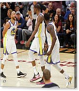Draymond Green, Stephen Curry, and Kevin Durant Acrylic Print