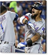 Elvis Andrus and Rougned Odor Acrylic Print