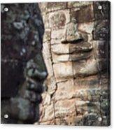 face  of Bhudha at Bayon temple Acrylic Print