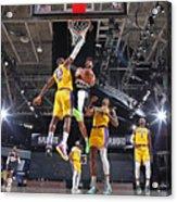 Jamal Murray and Lebron James Acrylic Print