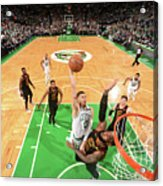 Jayson Tatum and Lebron James Acrylic Print