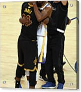 Kevin Durant and Lebron James Acrylic Print