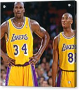 Kobe Bryant and Shaquille O'neal Acrylic Print