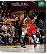 Kyle Lowry and George Hill Acrylic Print