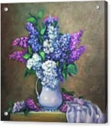 Lilac flowers Acrylic Print