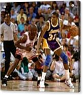 Magic Johnson and Michael Jordan Acrylic Print