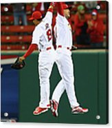 Matt Holliday and Jon Jay Acrylic Print