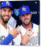 Mike Moustakas and Eric Hosmer Acrylic Print
