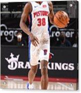 Milwaukee Bucks v Detroit Pistons Acrylic Print