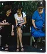 People Using Cellphones Acrylic Print