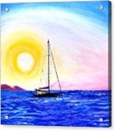 Pink Sky Sails #1 Acrylic Print