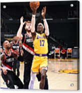Portland Trail Blazers v LA Lakers Acrylic Print